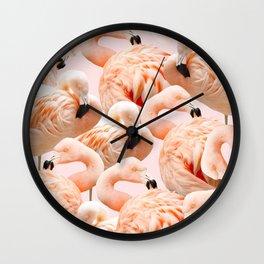 Flamingo Blush #society6 #decor #buyart #flamingoart Wall Clock