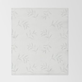 Airy Watercolor Vine By Journey Home Made Throw Blanket