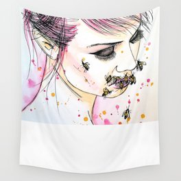 muzzle of bees Wall Tapestry
