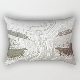 Silver and lashed glam Rectangular Pillow