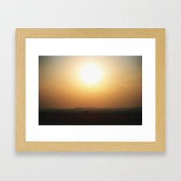 Sunsets in Africa Framed Art Print
