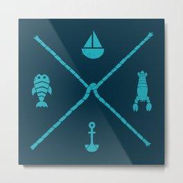 Sub-aquatic Compass Metal Print