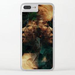 Modern Cubist Clear iPhone Case