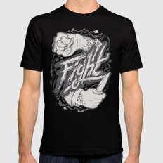 The Fight Mens Fitted Tee MEDIUM Black