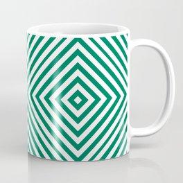 Emerald Elegant Diamond Chevron Coffee Mug