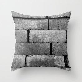 Construction Block Monochrome Throw Pillow