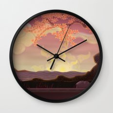 Chinese landscape Wall Clock