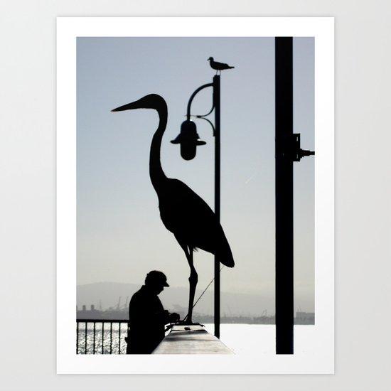 Pier Silhouettes Art Print