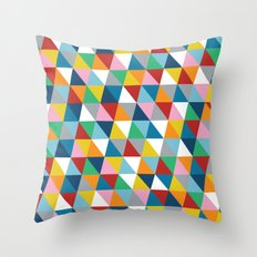 Triangles 45 Throw Pillow