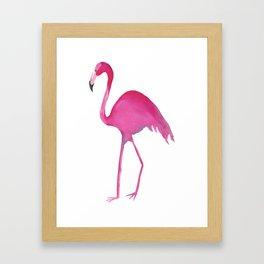 Single Lady Flamingo Framed Art Print