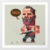 die hard Art Prints featuring John McClane - Die Hard by Robin Gundersen