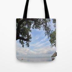 OuterBanks Vacation Blue Sky Landscape Scene Tote Bag