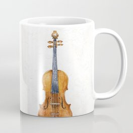 Violin (watercolor on textured background) Coffee Mug