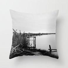Whitebaiting Throw Pillow