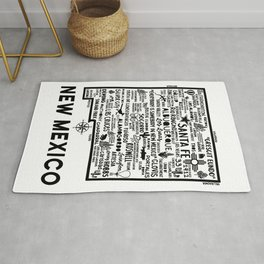 New Mexico Map  Rug