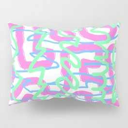 Neon Graffiti Pillow Sham