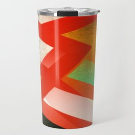 Red and Orange Abstract 1 Travel Mug