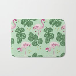 Flamingo Friends Bath Mat