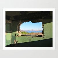City Through A Window Art Print