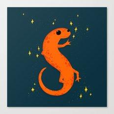Salamander Sparkles Canvas Print