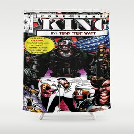 """Code Name: King""  - Comic Book Promo Poster  Shower Curtain"