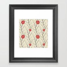 Branch & Roses Framed Art Print