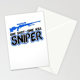 Sniper One Shot, One Kill | Gun Stationery Cards