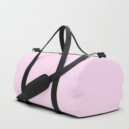 Girly Pink Solid Color Duffle Bag