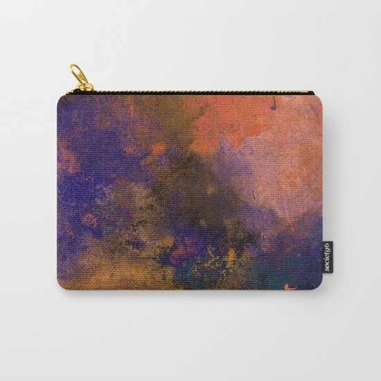 Inner Peace - Orange, red, blue, pastel, textured painting Carry-All Pouch