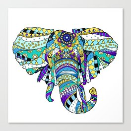 Éléphant royal Canvas Print