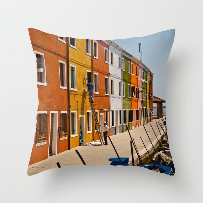 Burano Throw Pillow