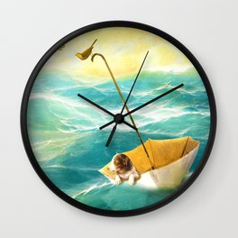 Drifting Away Wall Clock