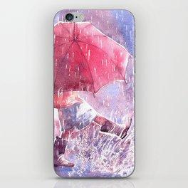 Umbrella watercolor illustration iPhone Skin