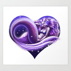 I Heart Mermaids- ver. 1 Art Print