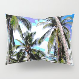 Palm Trees in a Posterised Design Pillow Sham