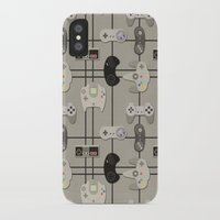 video game iPhone & iPod Cases featuring Paper Cut-Out Video Game Controllers by Jaana Baker