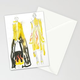 Yellow outfits Stationery Cards