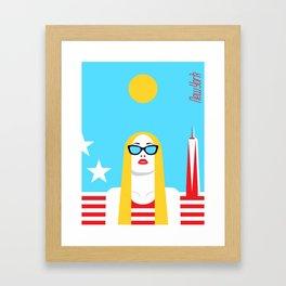 Stylish Journey - New York Framed Art Print