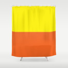 Abstract in orange and yellow Shower Curtain
