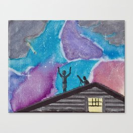 Taking a Shower in the Cosmos Canvas Print