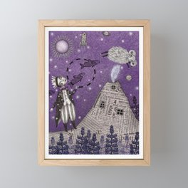 When the Little Prince came to Iceland Framed Mini Art Print