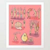 french fries Art Prints featuring French fries by bernardojbp