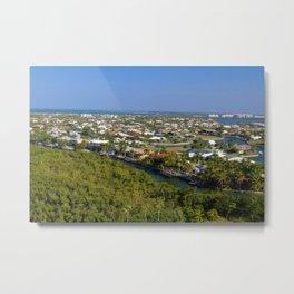 Northern Marco Island, Florida Suburbs Metal Print