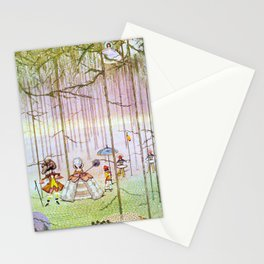 Vintage French Renaissance Fashion Stationery Cards