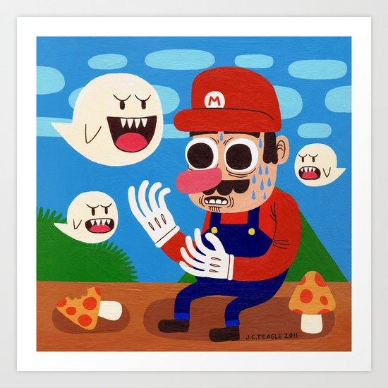 Tripping in the Mushroom Kingdom Art Print