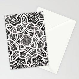 Mandala Project 209 | White Lace on Black Stationery Cards