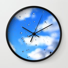 The weather emerges after rain Wall Clock