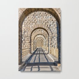Stone arch in a row in selective focus Metal Print