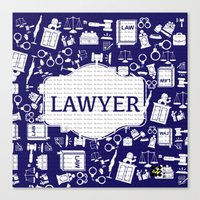 lawyer Canvas Prints featuring Blue Lawyer by Be Raza