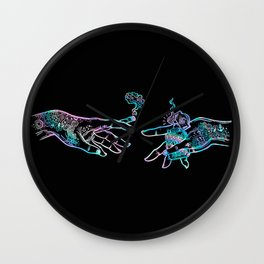 the Creation of Cannabis- holographic Wall Clock